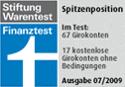 Finanztest: Spitzenposition