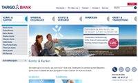 Bildschrimfoto der Targobank-Website