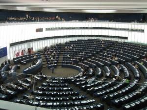 Plenarsaal des Europäischen Parlamentes in Strasburg